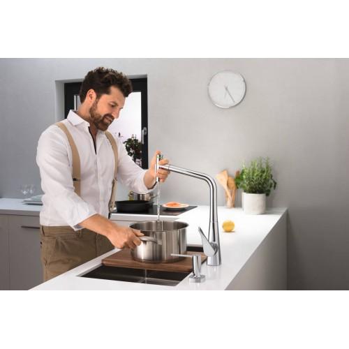 фото - Доска кухонная hansgrohe F16 40960000 грецкий орех