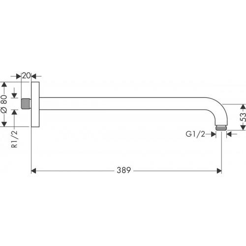 фото - Душевая система скрытого монтажа hansgrohe Ecostat Square 2B141218