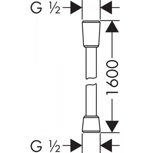 фото - Душевой шланг hansgrohe Isiflex 160 cm, черный матовый 28276670