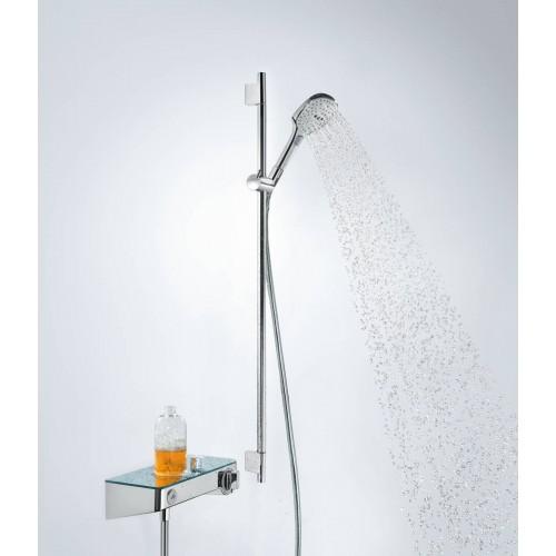 фото - Душовий набір hansgrohe Raindance Select E 120 3jet EcoSmart з душовою лійкою і мильницею 26623400