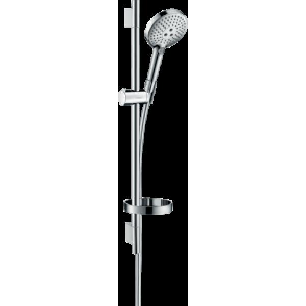фото - Душевой набор hansgrohe Raindance Select S 120 3jet EcoSmart с душевой штангой и мыльницей 26632000