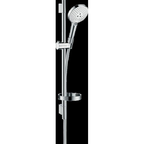 фото - Душевой набор hansgrohe Raindance Select S 120 3jet EcoSmart с душевой штангой и мыльницей 26632400