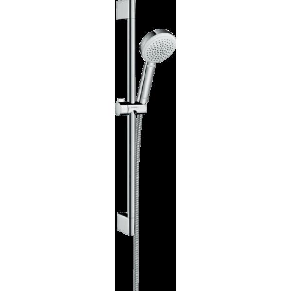 фото - Душевой набор hansgrohe Crometta 100 1jet EcoSmart с душевой штангой 26660400