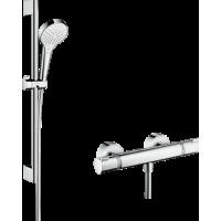 Душевой комплект hansgrohe Croma Select S Vario с термостатом Ecostat Comfort и штангой 27013400