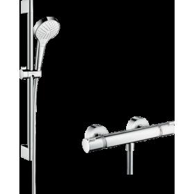 Душовий комплект hansgrohe Croma Select S Vario с термостатом Ecostat Comfort і штангою 27013400
