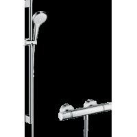 Душевой комплект hansgrohe Croma Select S Vario с термостатом Ecostat Comfort и штангой 27014400