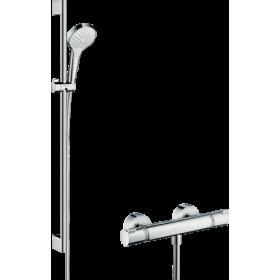 Душовий комплект hansgrohe Croma Select S Vario с термостатом Ecostat Comfort і штангою 27014400