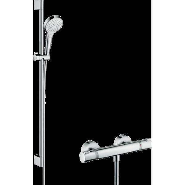 фото - Душевой комплект hansgrohe Croma Select S Vario с термостатом Ecostat Comfort и штангой 27014400
