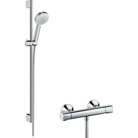 Душевой набор Crometta 100 Vario/Ecostat Universal Combi 0,9 м, белый/хром 27031400