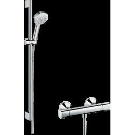 Душовий набір Crometta 100 Vario/Ecostat Universal Combi 0,9 м, білий/хром 27031400