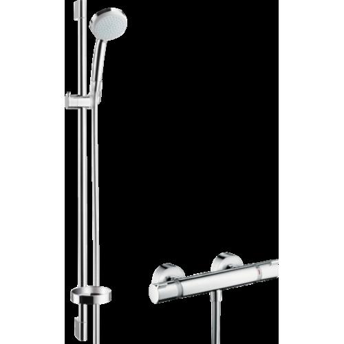 фото - Душовий набір Croma 100 Vario EcoSmart з термостатом Ecostat Comfort і душовою штангою 27033000