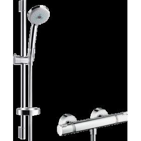 Душевой набор Croma 100 Multi с термостатом Ecostat Comfort и душевой штангой 27086000