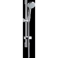 Душевой набор hansgrohe Croma 100 Vario EcoSmart с душевой штангой 65 см и мыльницей 27776000