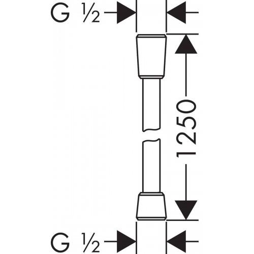 фото - Душовий шланг hansgrohe Isiflex із захистом від перекручування 125 см, хром 28272000