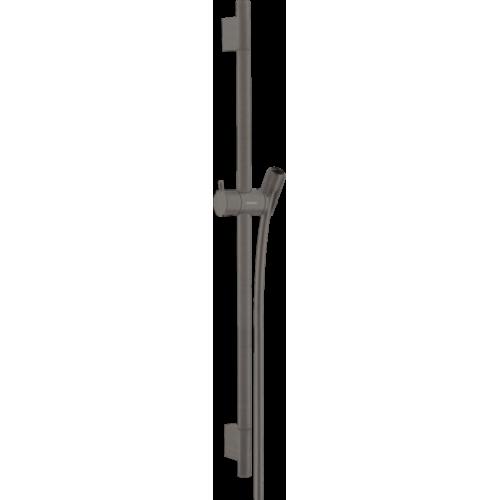 фото - Штанга для душу hansgrohe Unica S Puro 65 см со шлангом для душа, матовий чорний хром 28632340