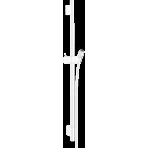 фото - Штанга для душа hansgrohe Unica S Puro 65 см со шлангом для душа, белый матовый 28632700
