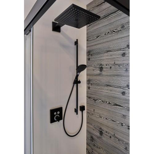 фото - Верхний душ hansgrohe Raindance E 300 1jet с душевым кронштейном, черный матовый 26238670