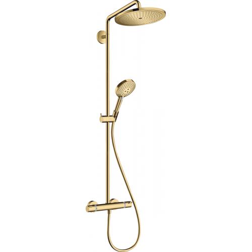 фото - Душевая система hansgrohe Croma Select S Showerpipe 280 1jet с термостатом, золото 26890990