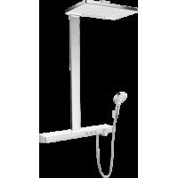 Душевая система hansgrohe Rainmaker Select Showerpipe 460 2jet EcoSmart с термостатом 27028400