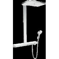 Душевая система hansgrohe Rainmaker Select Showerpipe 460 2jet EcoSmart с термостатом 27029400