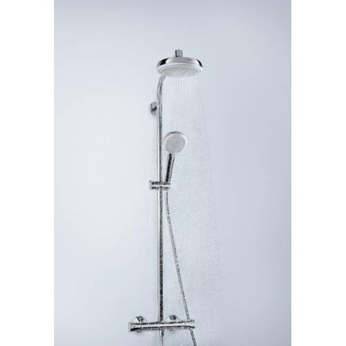 фото - Душова система hansgrohe Crometta Showerpipe 160 1jet EcoSmart с термостатом 27265400