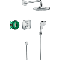 Душова система hansgrohe Croma Select E з термостатом Ecostat E 27294000