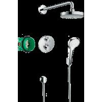 Душевая система hansgrohe Croma Select S с термостатом Ecostat S 27295000
