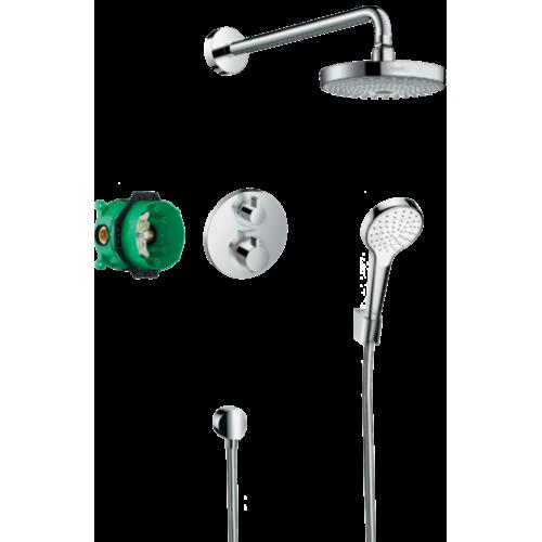 фото - Душевая система скрытого монтажа hansgrohe Croma Select S с термостатом Ecostat S 27295000