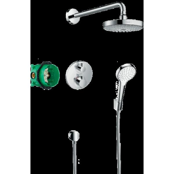 фото -  Душова система hansgrohe Croma Select S з термостатом Ecostat S 27295000