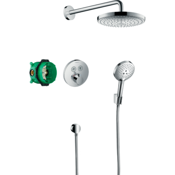 фото - Душевая система hansgrohe Raindance Select S с термостатом ShowerSelect S 27297000