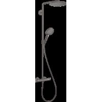 Душевая система hansgrohe Raindance Select S Showerpipe 240 1jet с термостатом, матовый черный хром 27633340