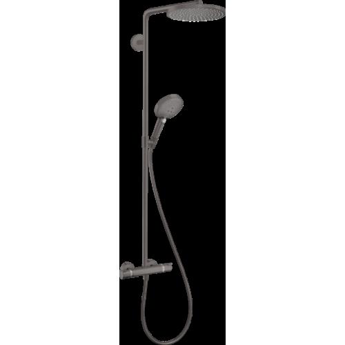 фото - Душевая система hansgrohe Raindance Select S Showerpipe 240 1jet с термостатом, матовый черный хром 27633340