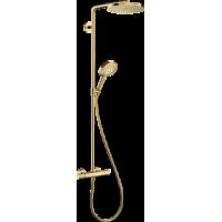 Душевая система hansgrohe Raindance Select S Showerpipe 240 1jet с термостатом, золото 27633990