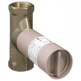 Скрытая керамическая часть запорного вентиля hansgrohe 15974180, расход воды 40 л/мин