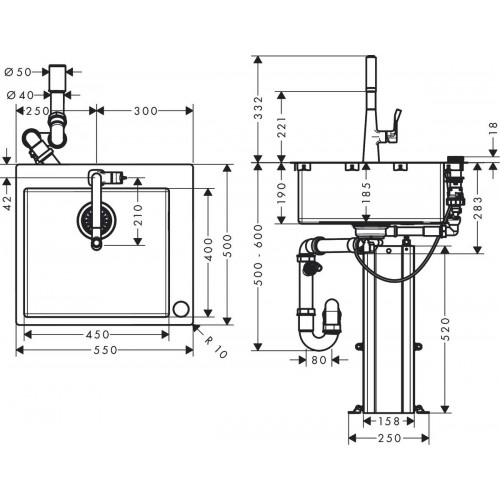 фото -  Кухонний комплект hansgrohe C71 C71-F450-01 43207800