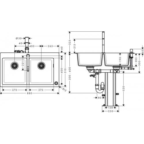 фото -  Кухонний комплект hansgrohe C51 C51-F770-10, хром 43221000