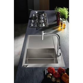 Мойка для кухни hansgrohe C71 C71-F450-02 43208800 с сушилкой слева
