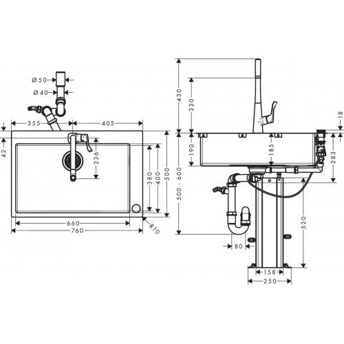 фото - Кухонний комплект hansgrohe C71 C71-F660-03 43209800