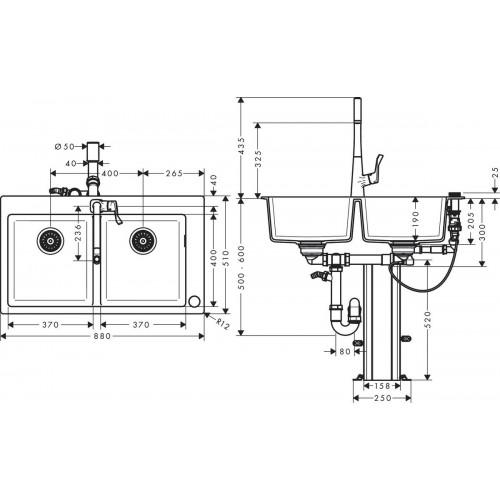 фото - Кухонный комплект hansgrohe C51 C51-F770-05 43216000
