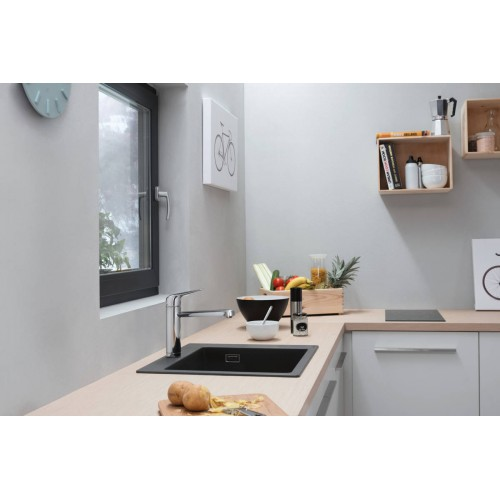 фото - Мойка для кухни hansgrohe S51 S510-F450, Concrete Grey 43312380 серый светлый
