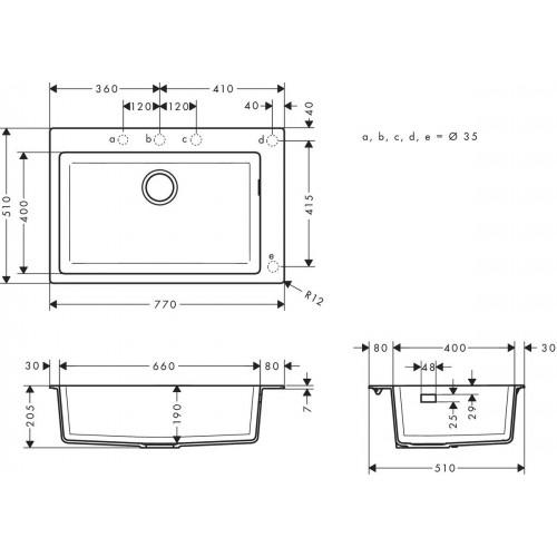 фото - Мойка для кухни hansgrohe S51 S510-F660 43313380