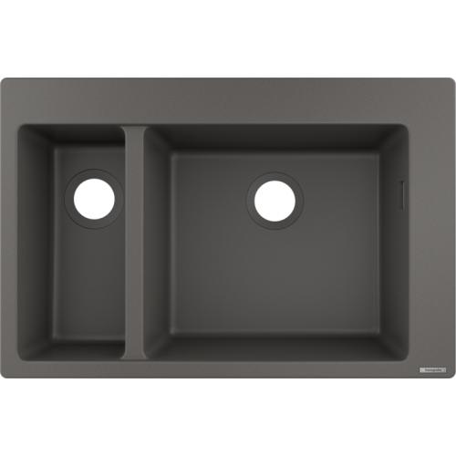 фото - Мойка для кухни hansgrohe S51 S510-F635, серый камень 43315290
