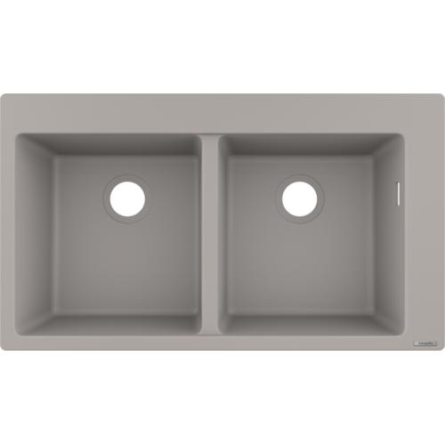 фото - Мойка для кухни hansgrohe S51 S510-F770, бетон 43316380