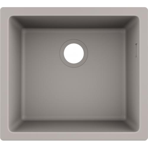 фото - Мойка для кухни hansgrohe S51 S510-U450, бетон 43431380