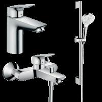 Набор смесителей для ванны 3 в 1 hansgrohe Logis 10002019  (71102000, 71400000, 26532400)