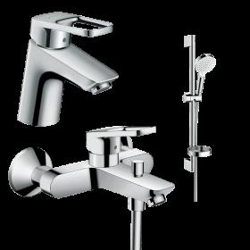 Набор смесителей для ванны 3 в 1 hansgrohe Logis Loop 1042019 (71150000, 71244000, 26553400)