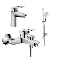 Набор смесителей для ванны 3 в 1 hansgrohe Logis Loop 1062019 (71151000, 71244000, 26553400)