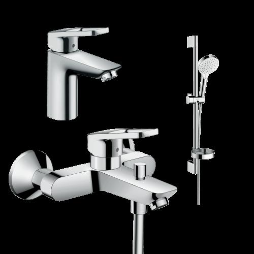 фото - Набор смесителей для ванны 3 в 1 hansgrohe Logis Loop 1062019