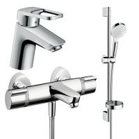 Набор смесителей для ванны 3 в 1 hansgrohe Logis Loop 1132019 (71150000, 15348000, 26553400)