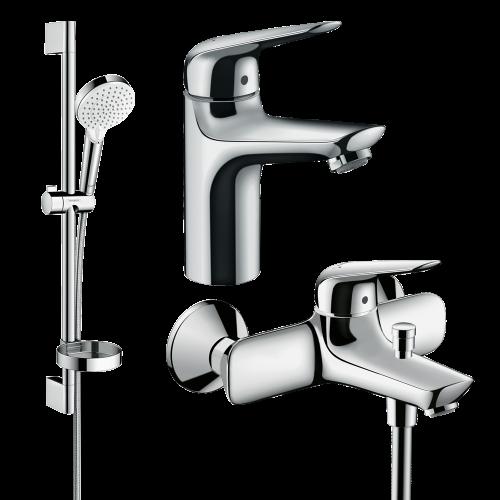 фото - Набір змішувачів для ванни 3 в 1 hansgrohe Novus 1152019